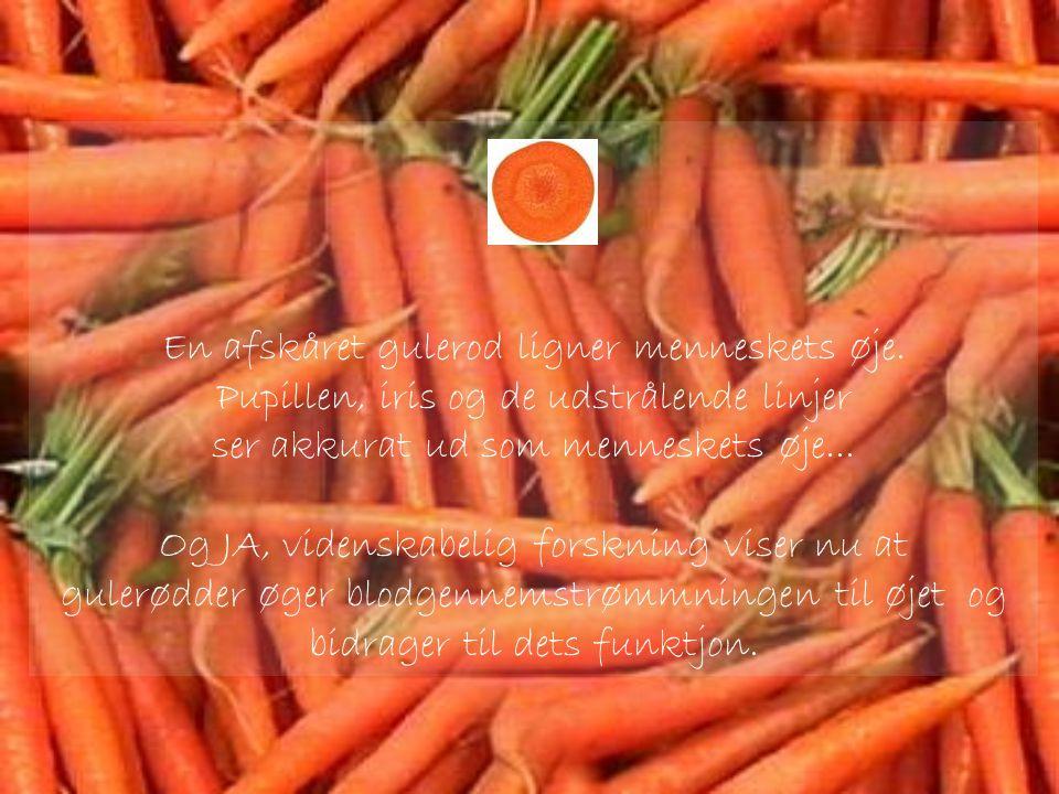 En afskåret gulerod ligner menneskets øje.