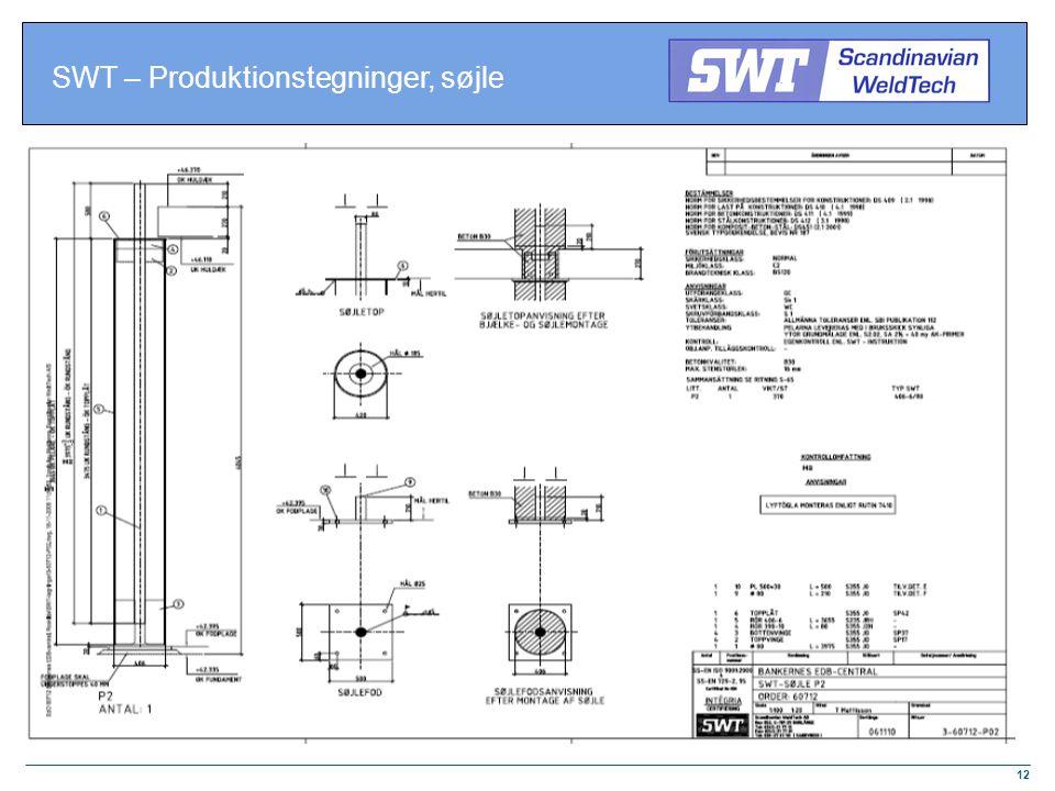 SWT – Produktionstegninger, søjle