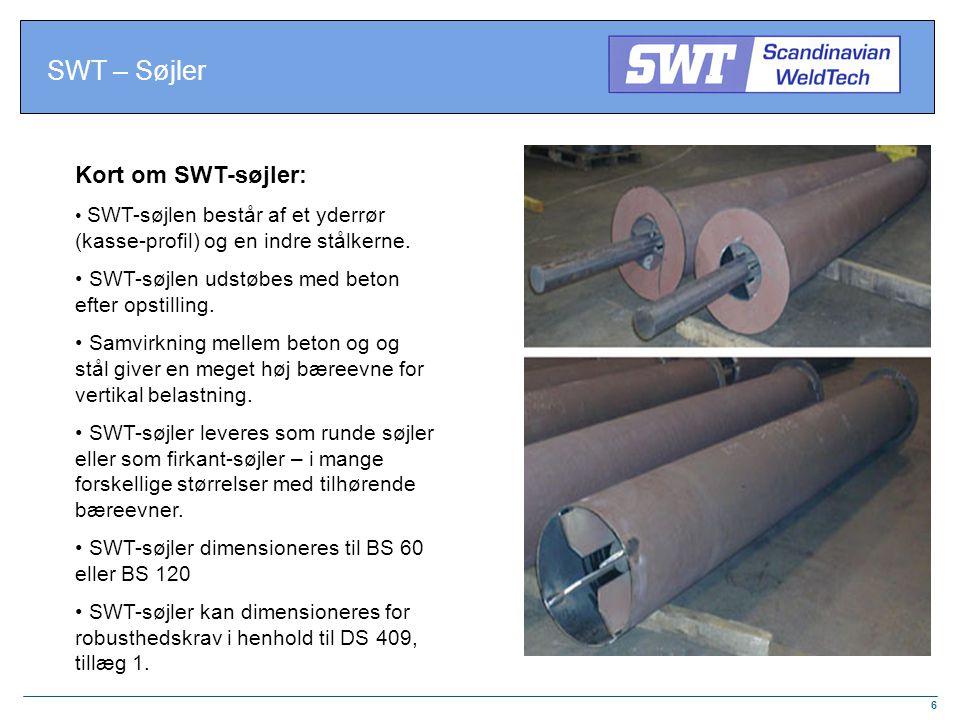 SWT – Søjler Kort om SWT-søjler: