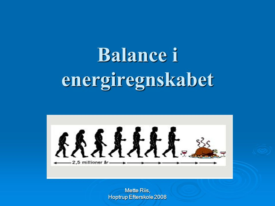 Balance i energiregnskabet