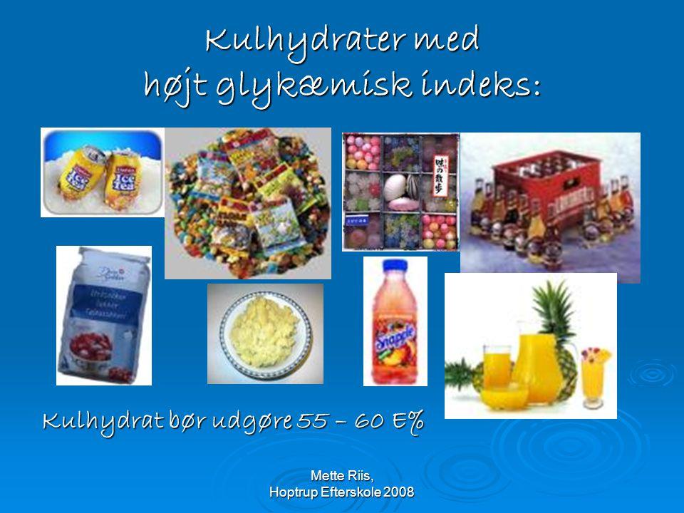 Kulhydrater med højt glykæmisk indeks: