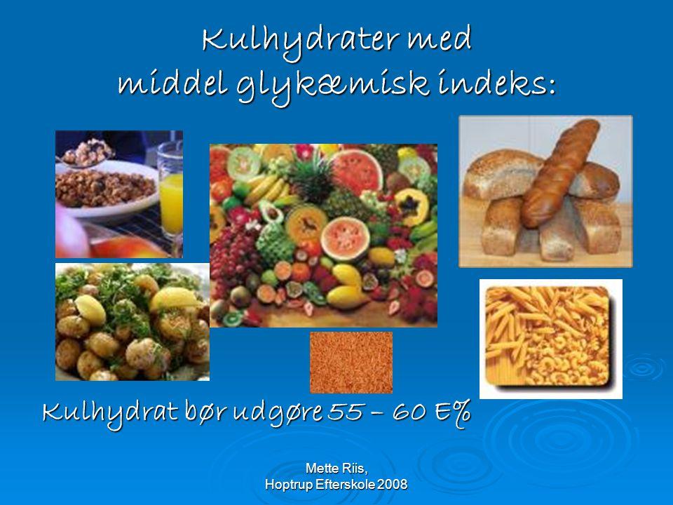 Kulhydrater med middel glykæmisk indeks:
