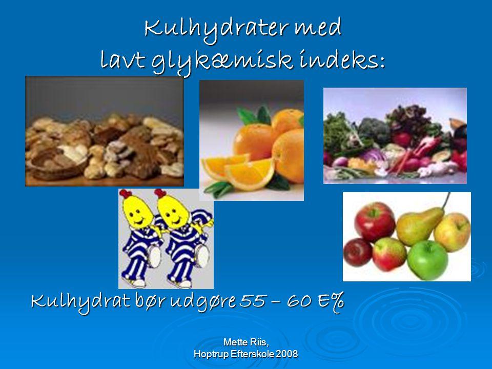 Kulhydrater med lavt glykæmisk indeks: