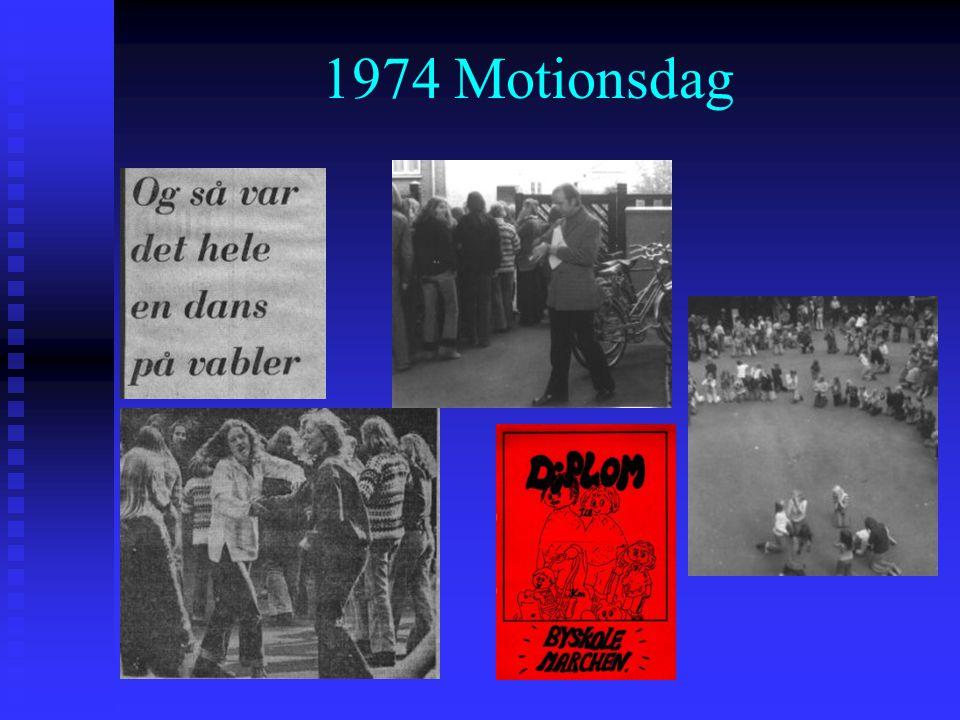 1974 Motionsdag Det år, Tom Kristensen døde