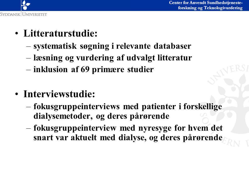 Litteraturstudie: Interviewstudie: