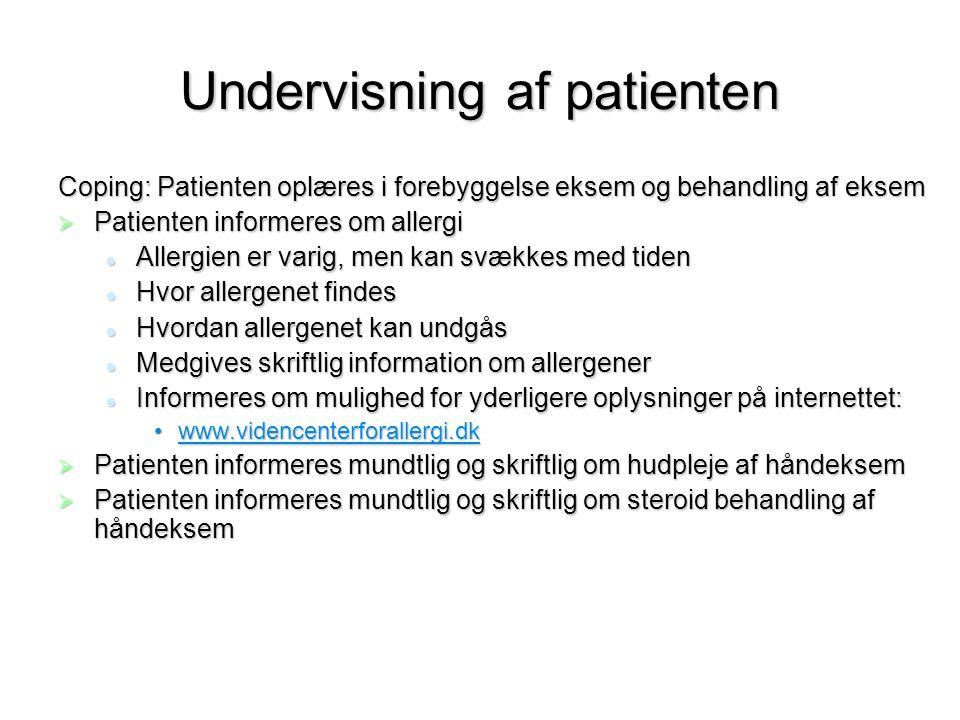 Undervisning af patienten