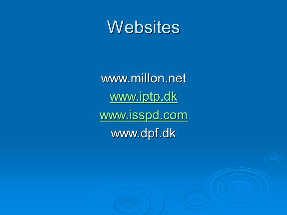 Websites www.millon.net www.iptp.dk www.isspd.com www.dpf.dk