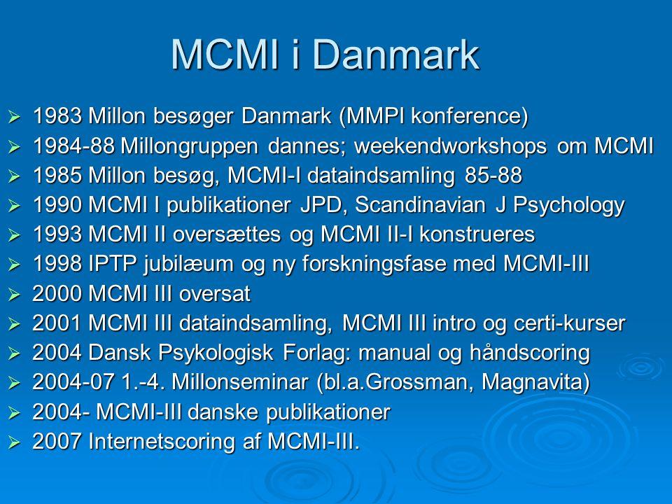 MCMI i Danmark 1983 Millon besøger Danmark (MMPI konference)