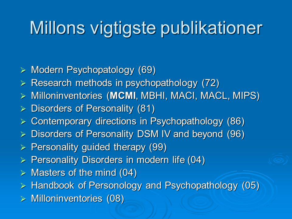 Millons vigtigste publikationer