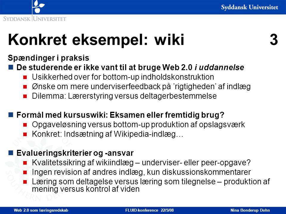 Konkret eksempel: wiki 3