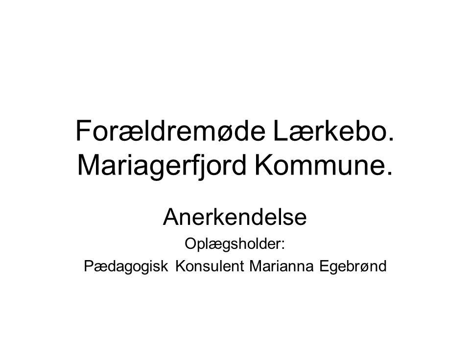 Forældremøde Lærkebo. Mariagerfjord Kommune.