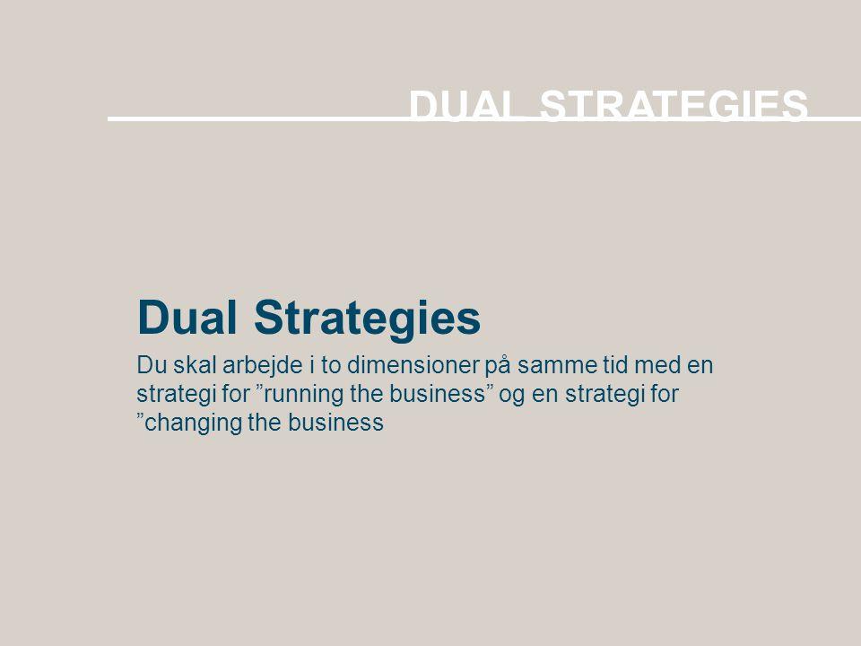 Dual Strategies DUAL STRATEGIES