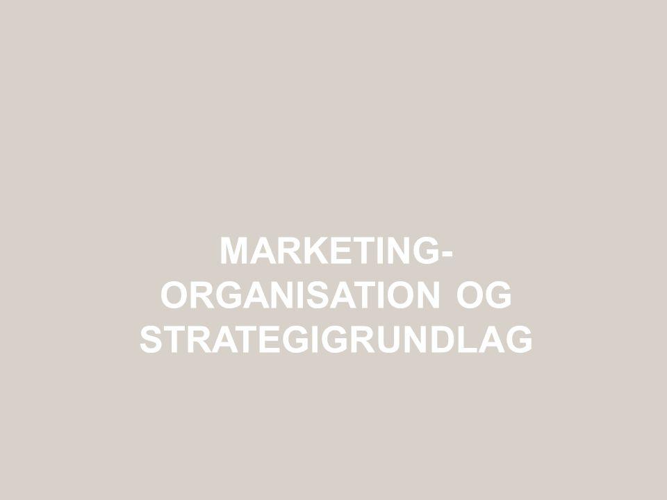 Marketing- organisation og strategigrundlag
