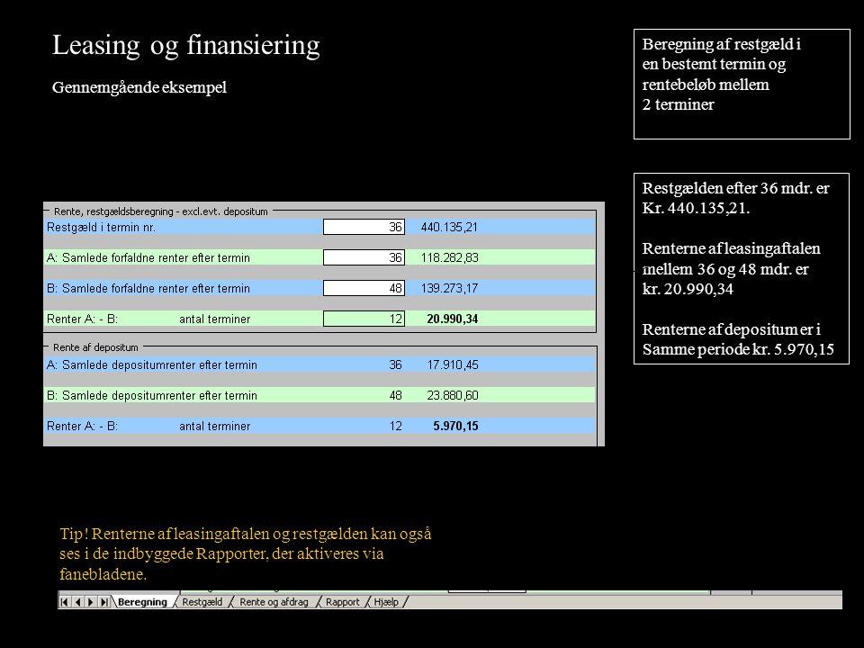 Leasing og finansiering