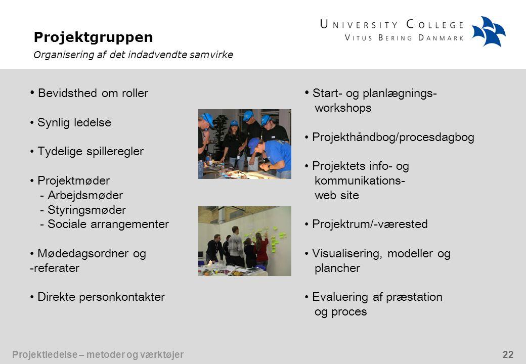 Start- og planlægnings- workshops