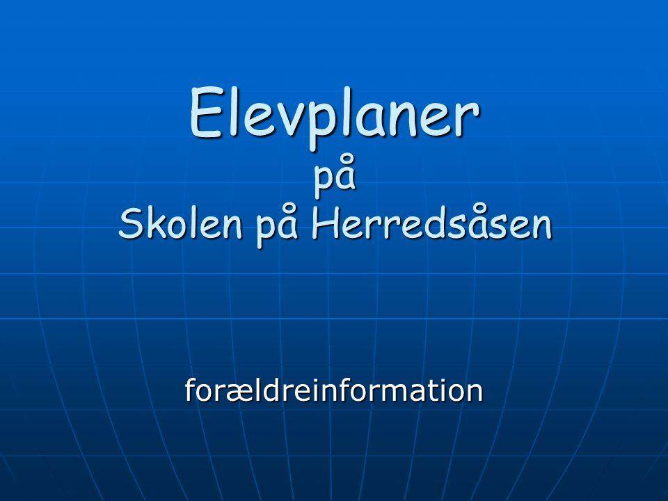 Elevplaner på Skolen på Herredsåsen