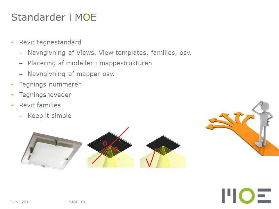Standarder i MOE Revit tegnestandard