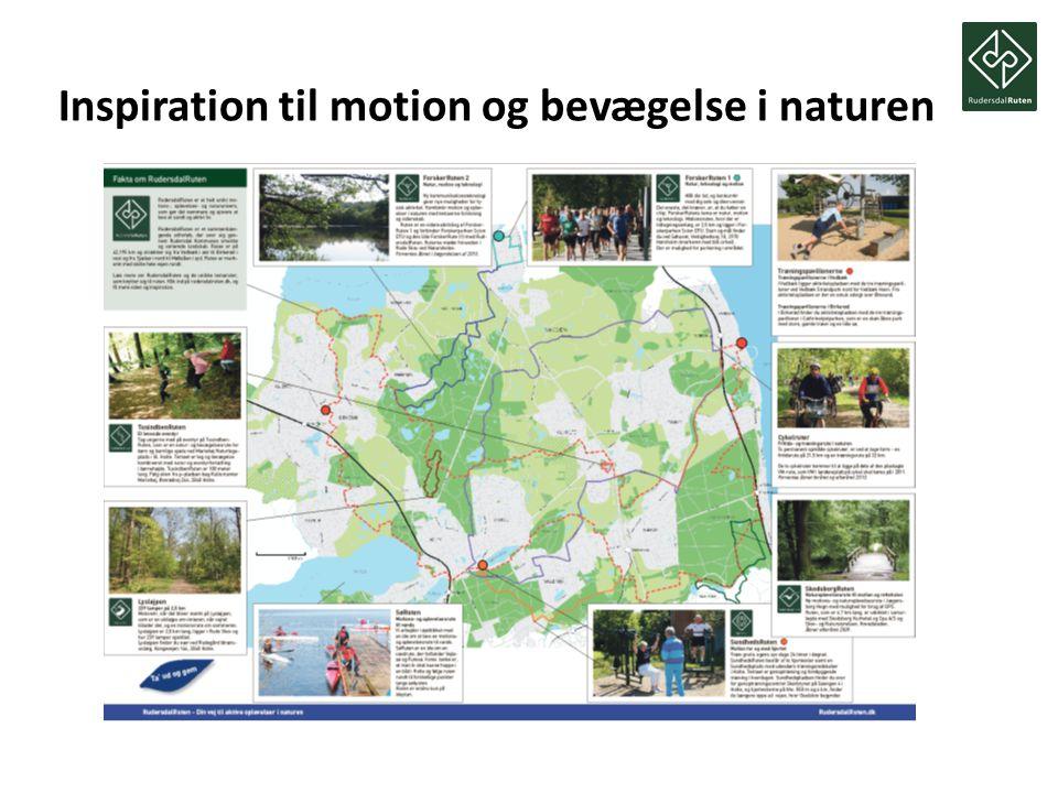 Inspiration til motion og bevægelse i naturen