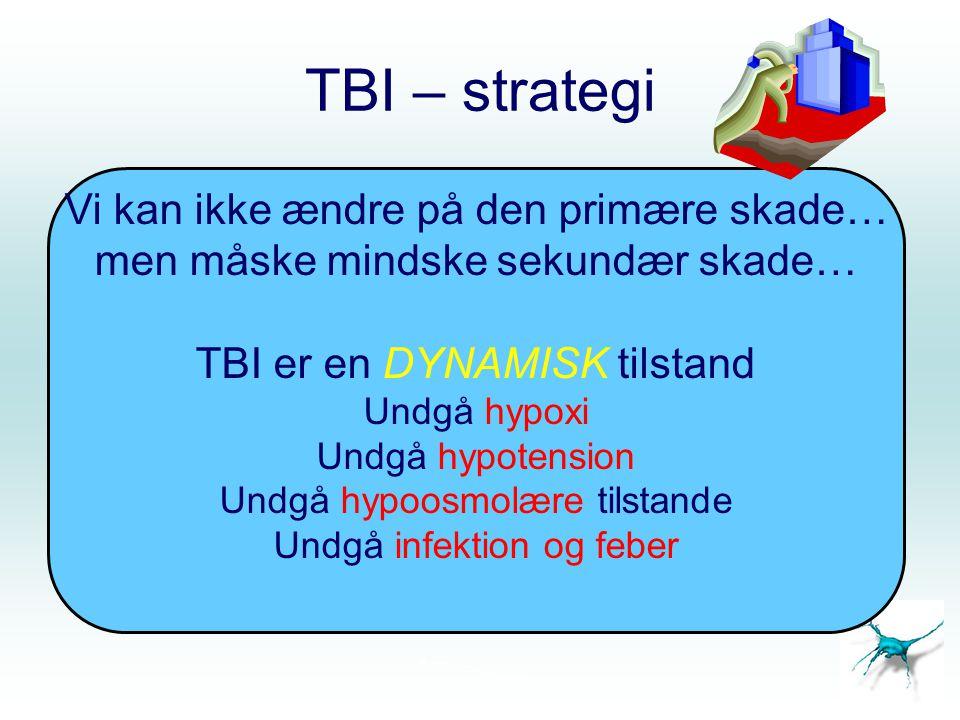 TBI – strategi Vi kan ikke ændre på den primære skade…