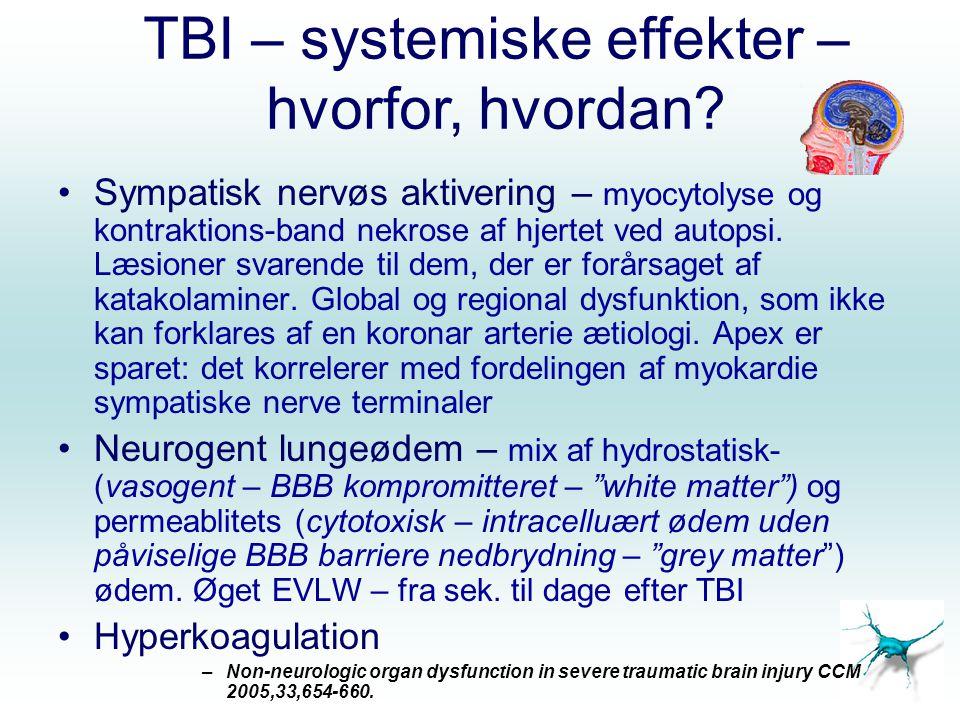 TBI – systemiske effekter – hvorfor, hvordan