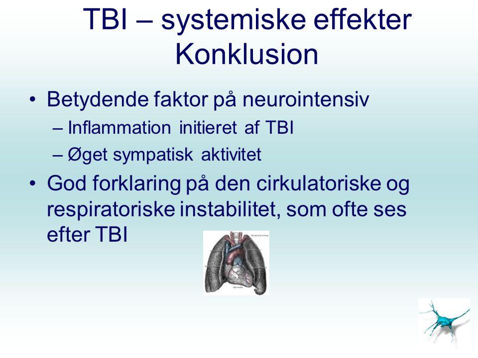 TBI – systemiske effekter Konklusion