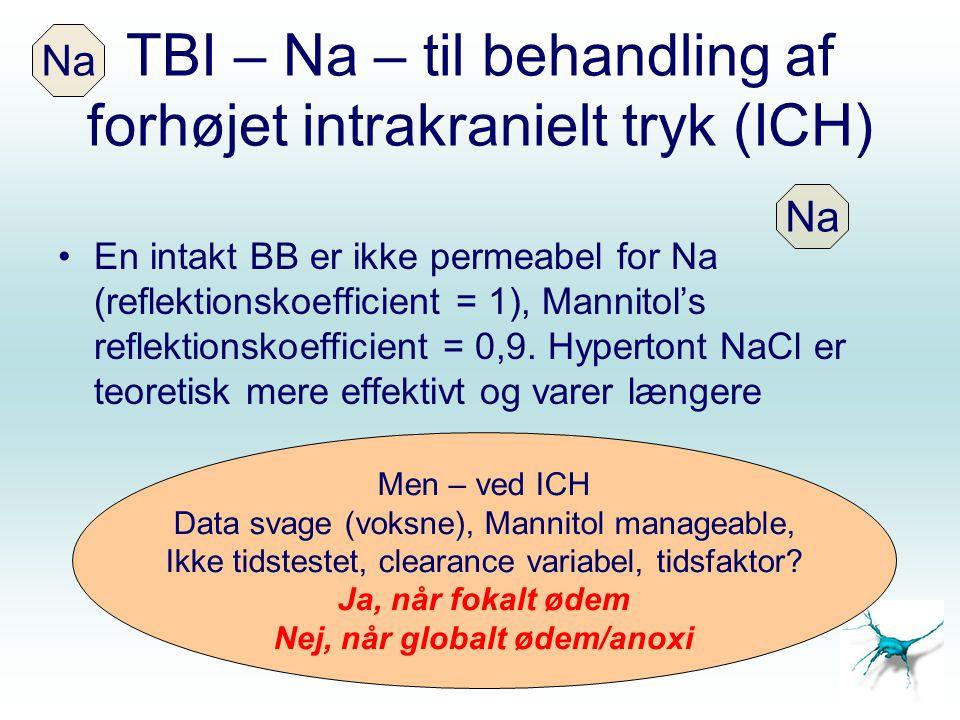 TBI – Na – til behandling af forhøjet intrakranielt tryk (ICH)