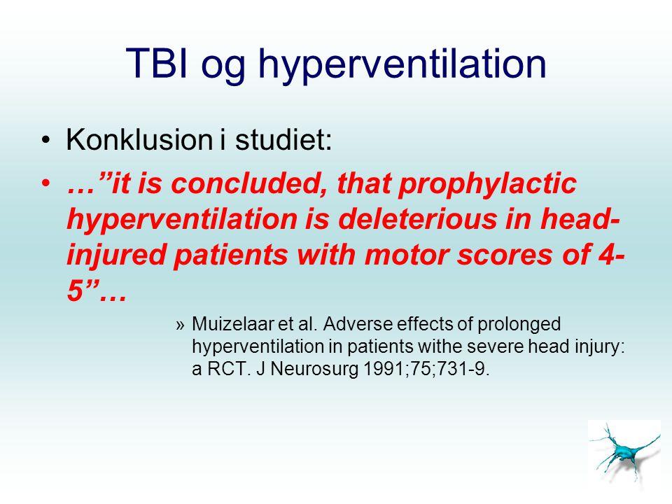 TBI og hyperventilation