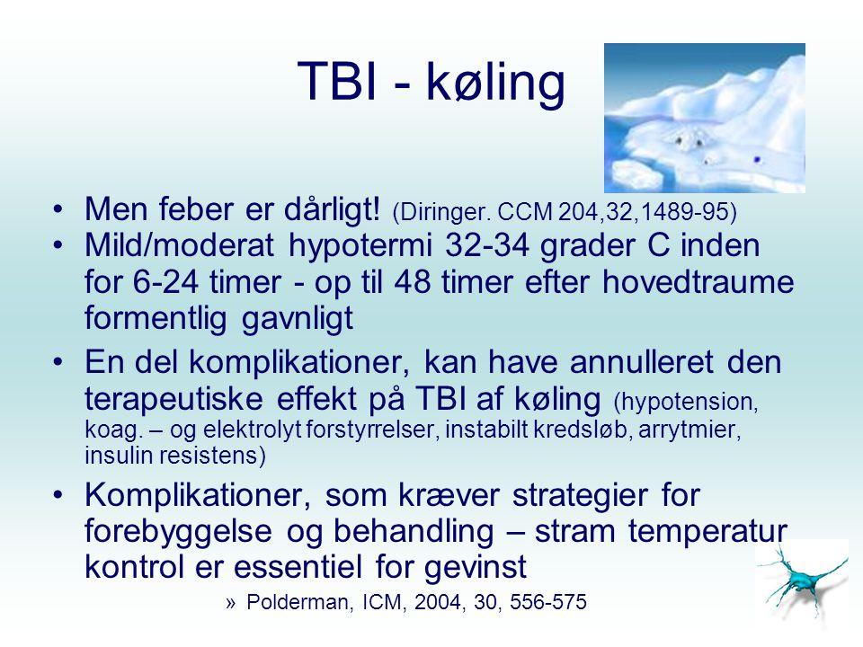 TBI - køling Men feber er dårligt! (Diringer. CCM 204,32,1489-95)