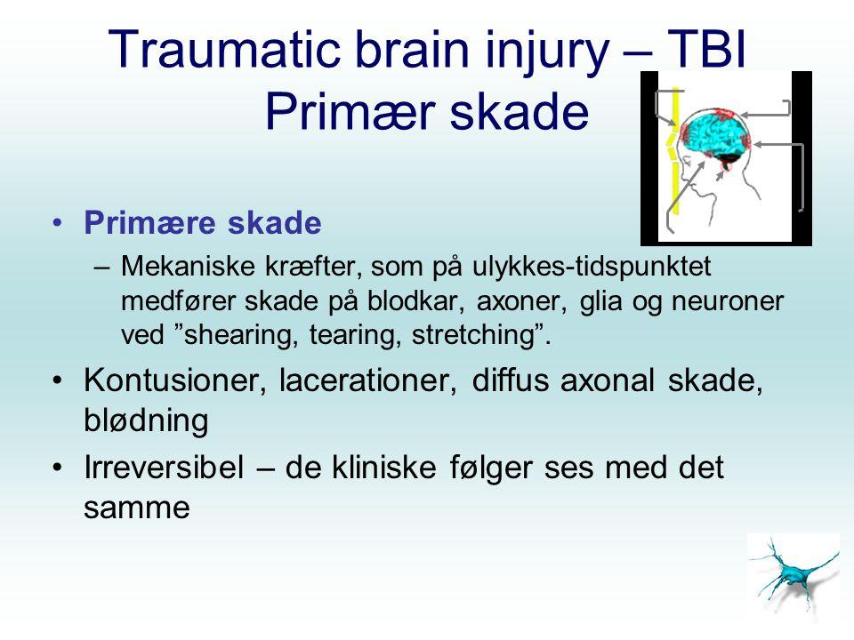 Traumatic brain injury – TBI Primær skade
