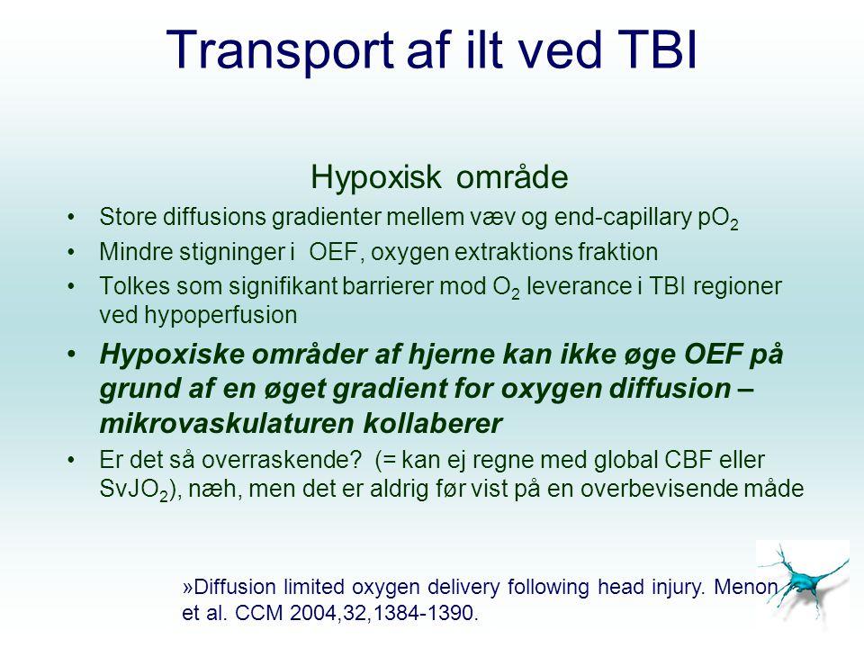 Transport af ilt ved TBI