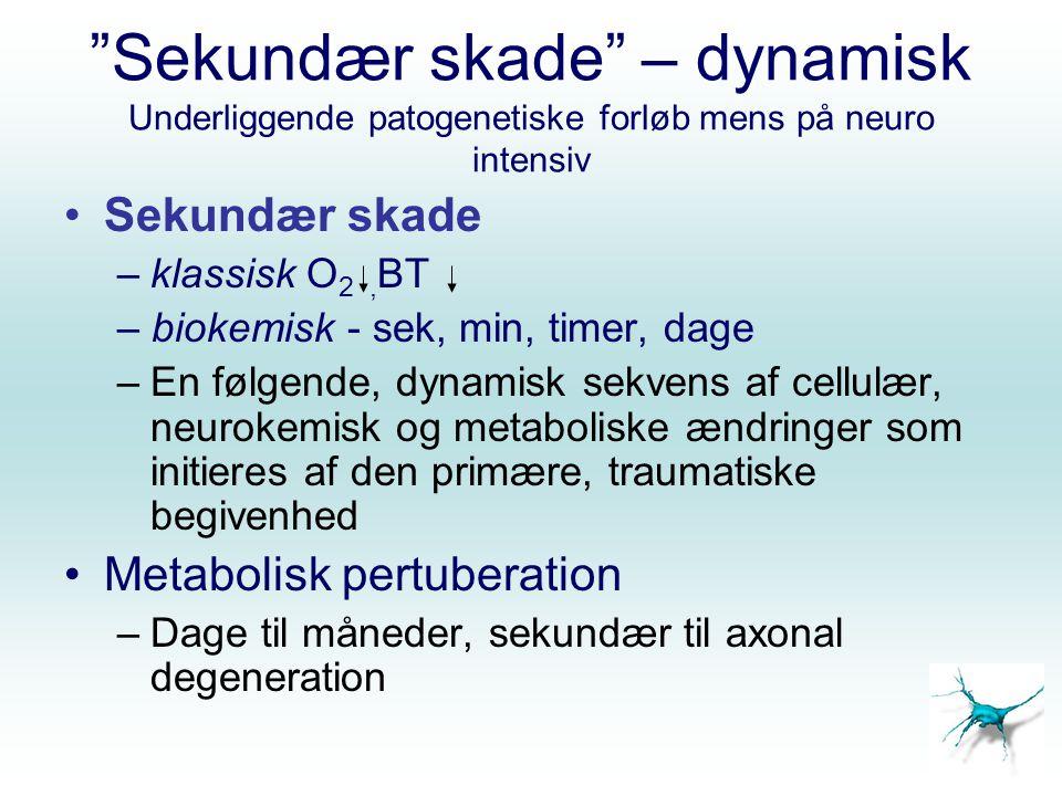 Sekundær skade – dynamisk Underliggende patogenetiske forløb mens på neuro intensiv