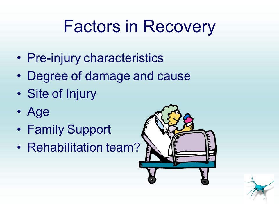 Factors in Recovery Pre-injury characteristics