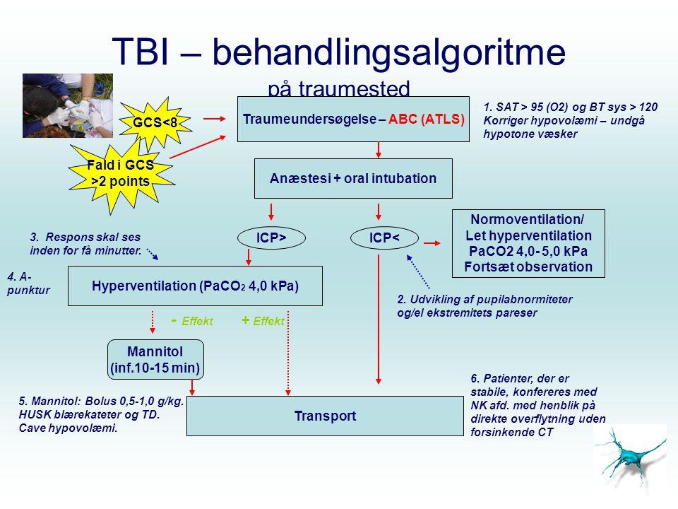 TBI – behandlingsalgoritme på traumested