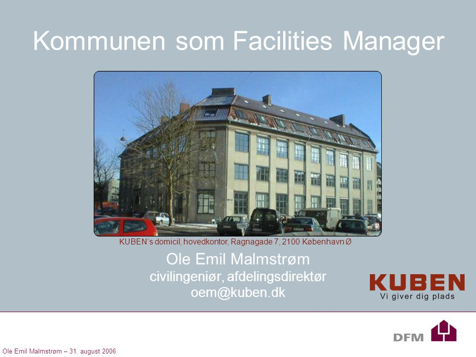 Kommunen som Facilities Manager