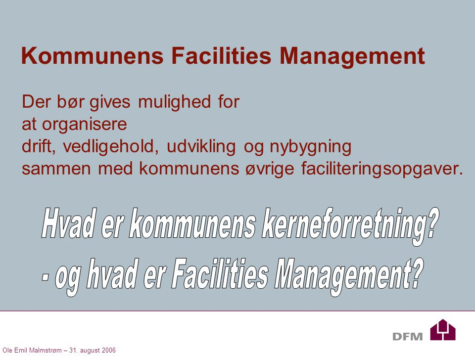 Kommunens Facilities Management