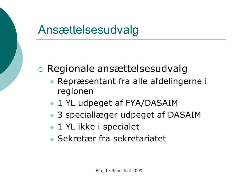 Ansættelsesudvalg Regionale ansættelsesudvalg