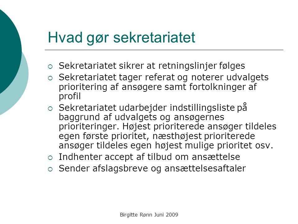 Hvad gør sekretariatet