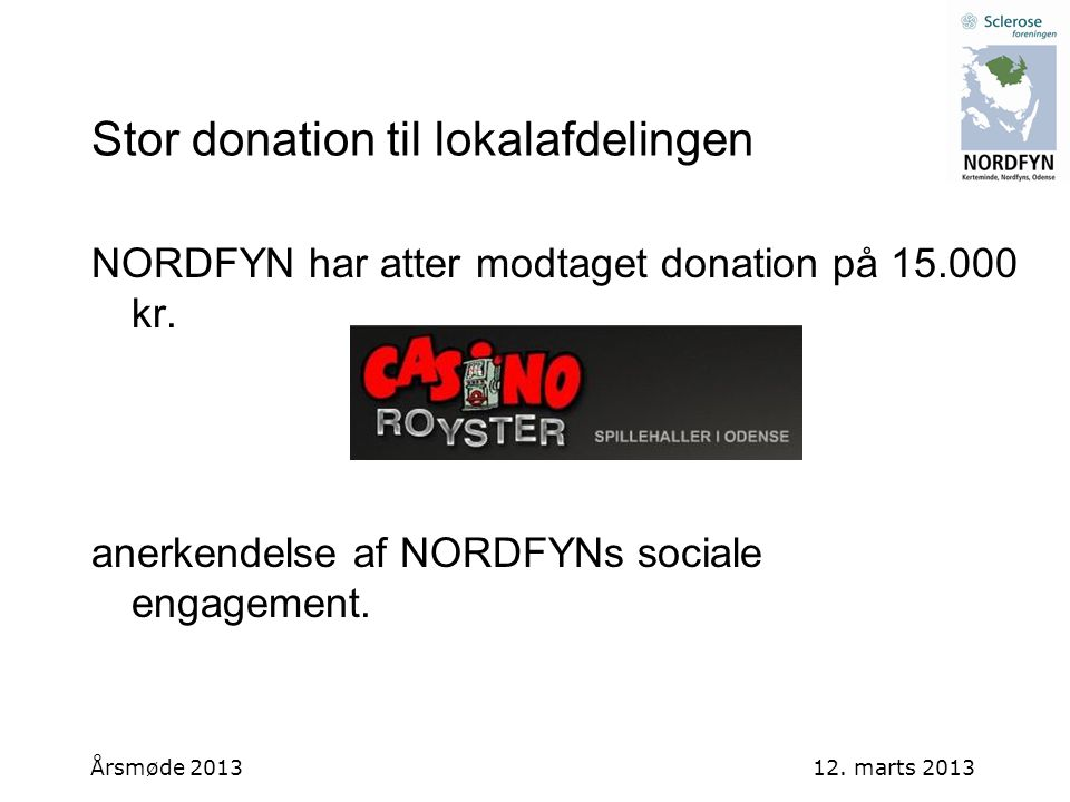 Stor donation til lokalafdelingen