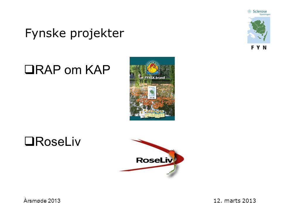 RAP om KAP RoseLiv Årsmøde 2013 12. marts 2013