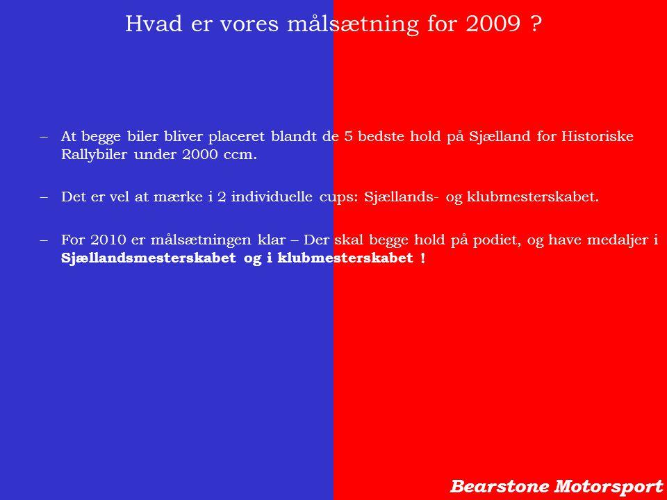 Hvad er vores målsætning for 2009