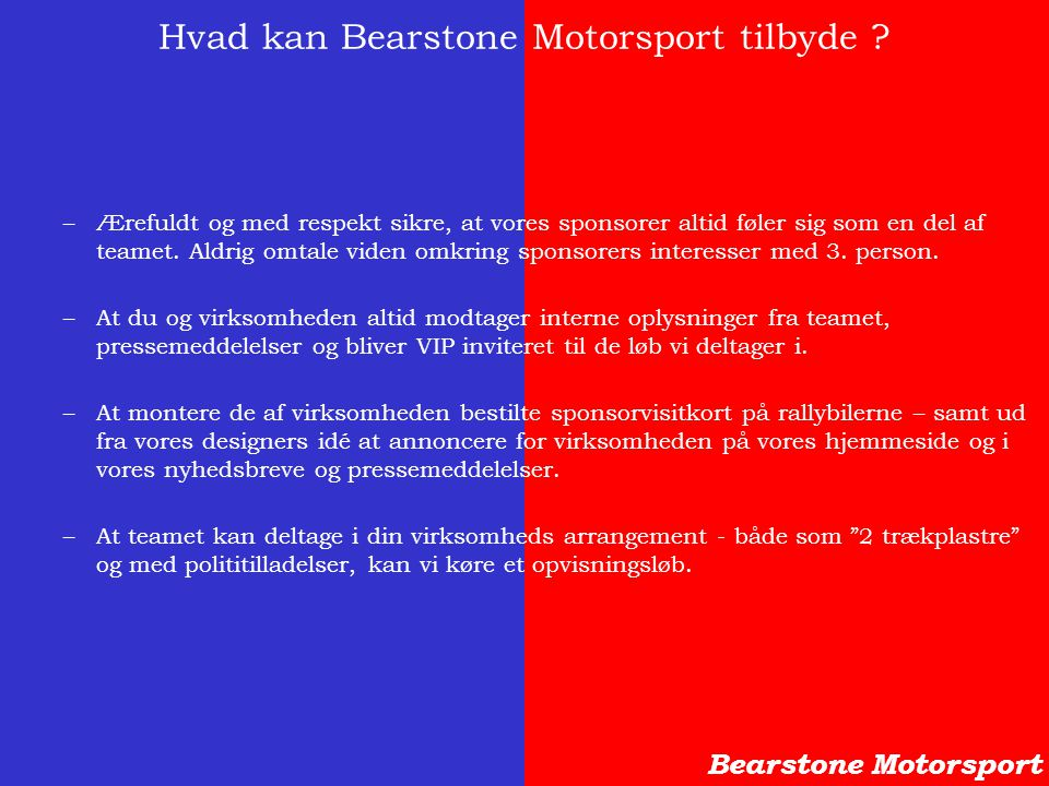 Hvad kan Bearstone Motorsport tilbyde