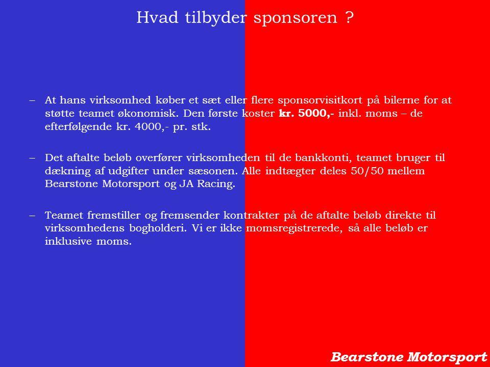 Hvad tilbyder sponsoren