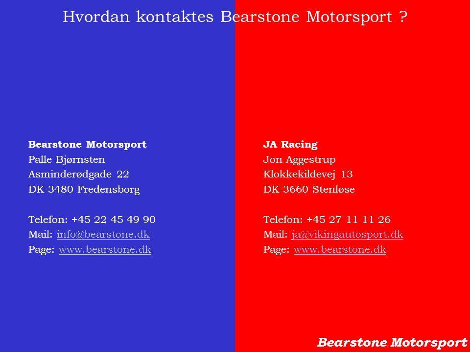 Hvordan kontaktes Bearstone Motorsport