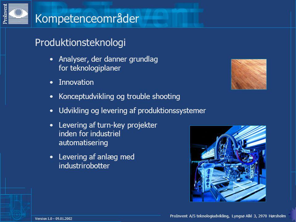 Kompetenceområder Produktionsteknologi