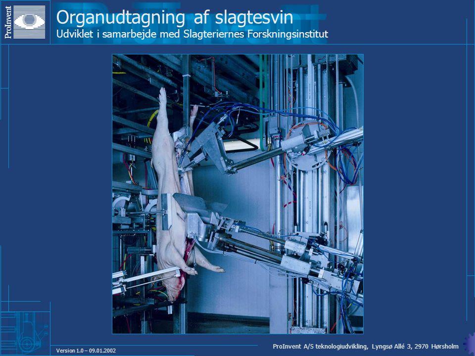 Organudtagning af slagtesvin Udviklet i samarbejde med Slagteriernes Forskningsinstitut