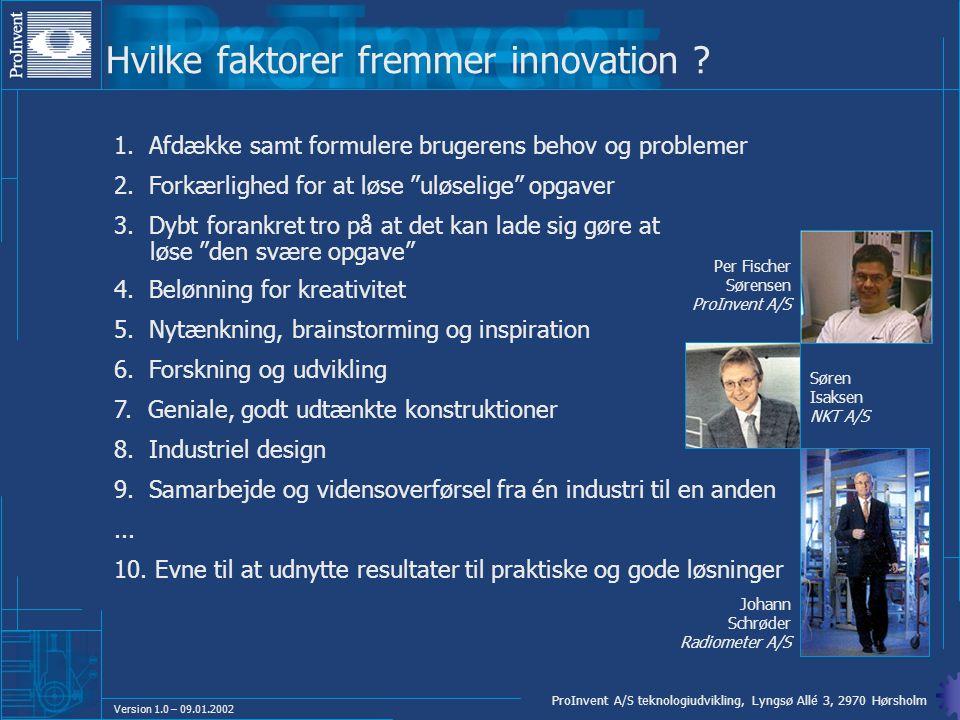 Hvilke faktorer fremmer innovation