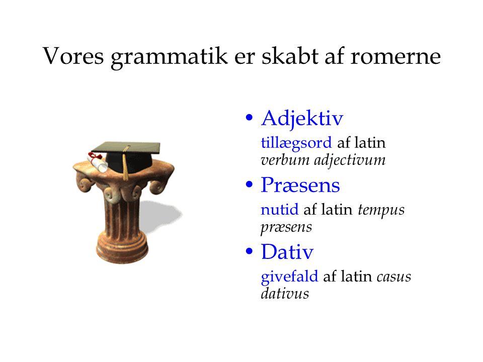 Vores grammatik er skabt af romerne