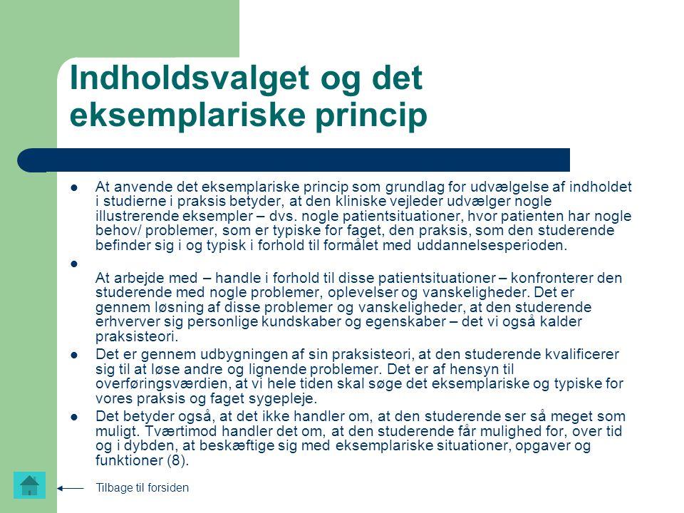 Indholdsvalget og det eksemplariske princip