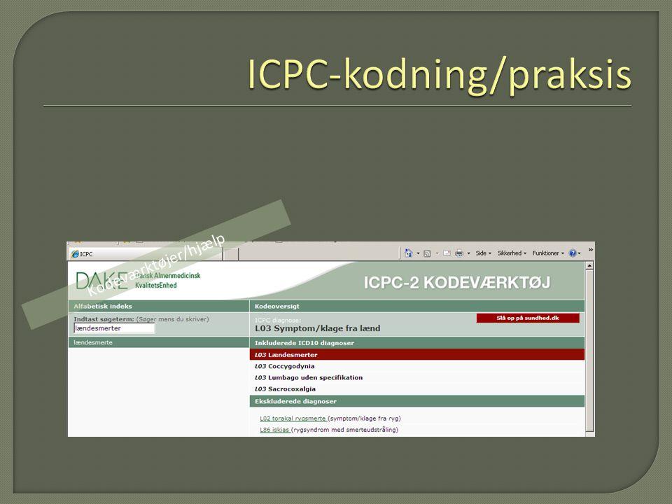 ICPC-kodning/praksis