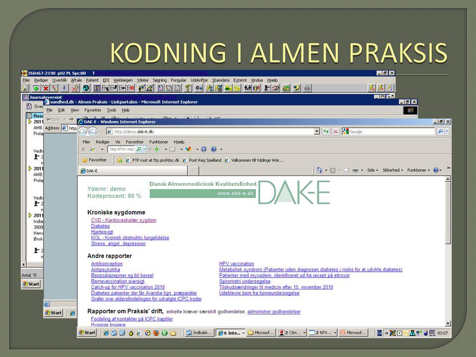 KODNING I ALMEN PRAKSIS